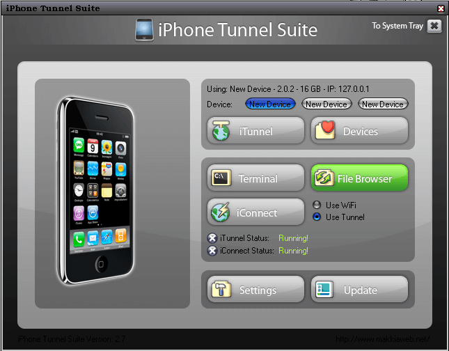 Iphone Tunnel Suite 2.7 Beta accede a SSH por USB (OS 3.0) 4