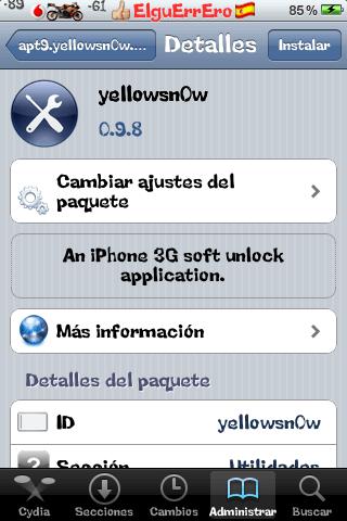 UltraSn0w actualizado 0.9 iphone 3G y 3GS