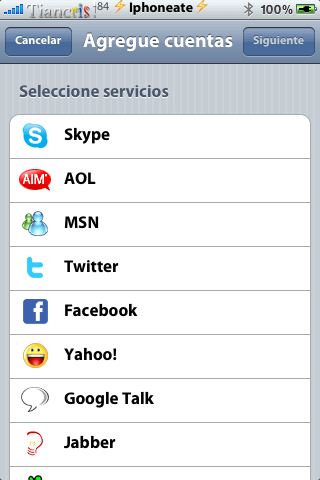 IM+ Push for Twitter, Skype, Facebook, MSN. 3.3-01