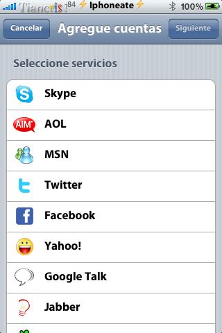 IM+ Push for Twitter, Skype, Facebook, MSN. 3.3-01