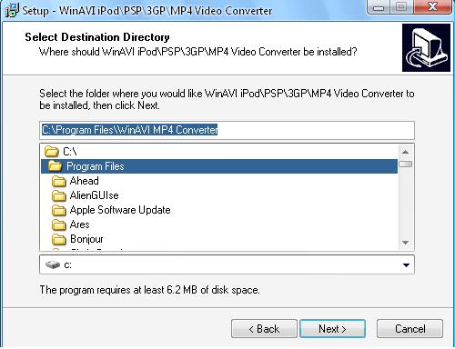 WinAVI 3GPMP4PSPiPod Video Converter v3.1-04