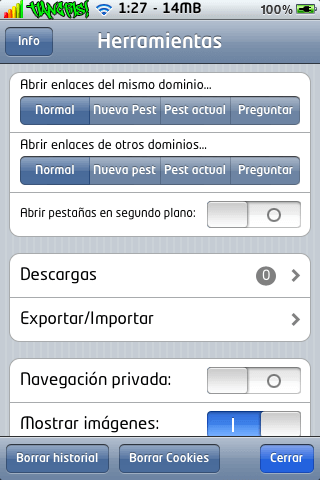 iCab Mobile (Web Browser) 1.7-01
