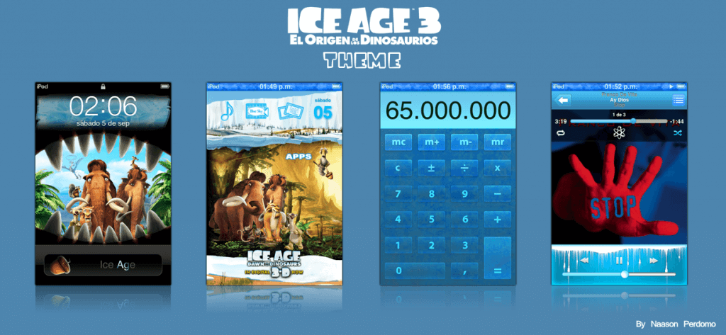 Theme Ice Age 3 Dawn of the Dinosaurs NP 1.0-02