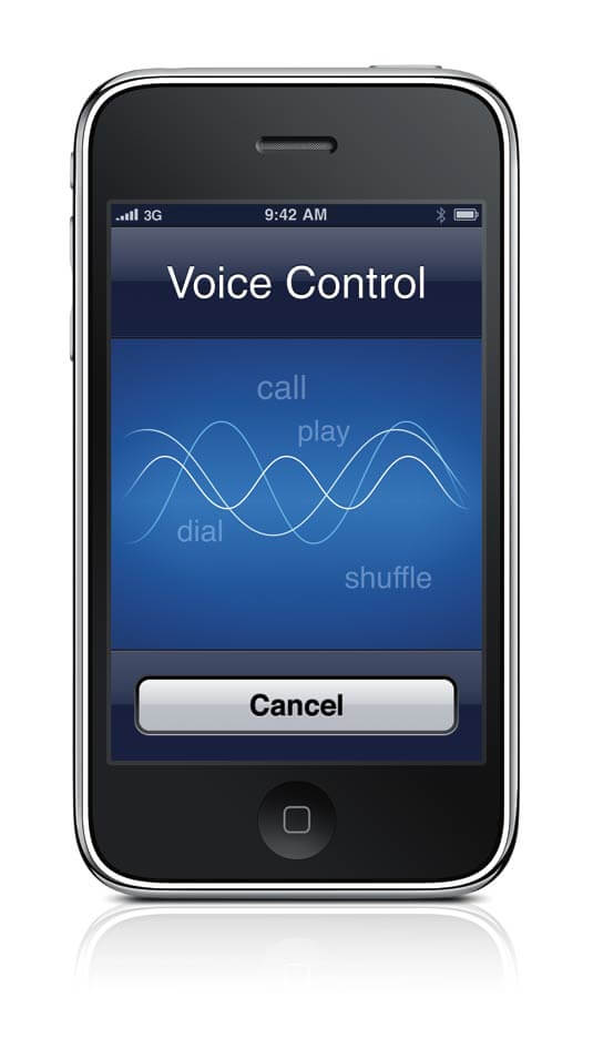 how to cancel voicecontrol on iphone