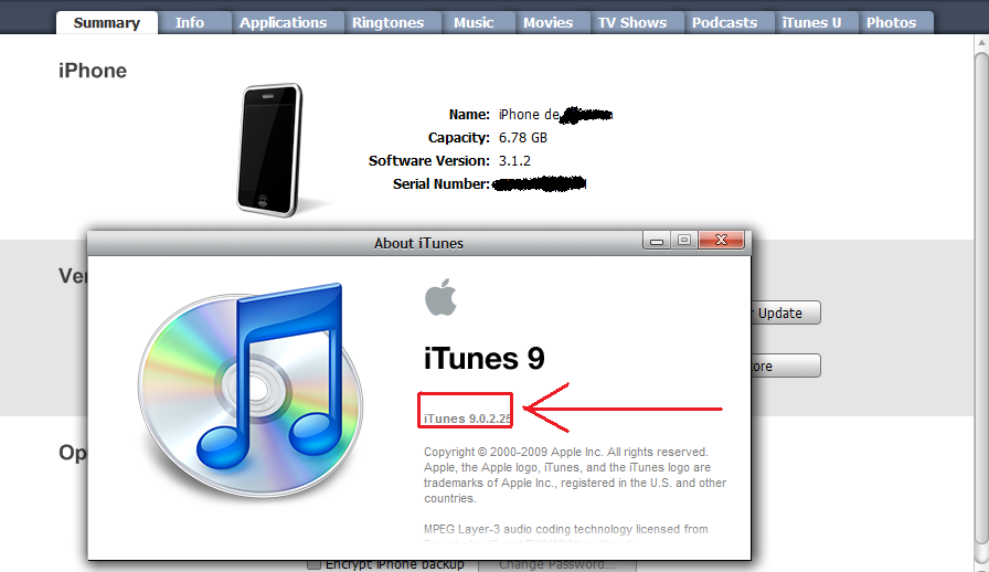 iTunes 9.0.2.25 sin problemas-01