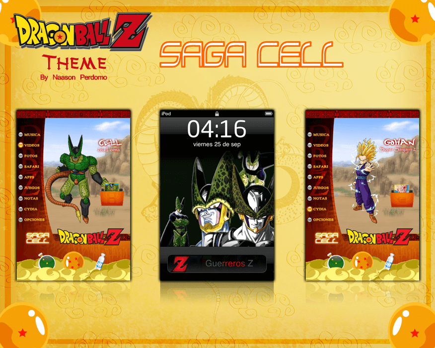 Theme: Dragon Ball Z Saga Cell NP 6.0 - 1