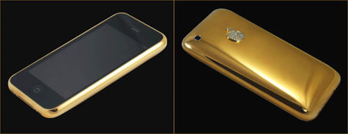 Carcasa de oro y diamantes para el iPhone