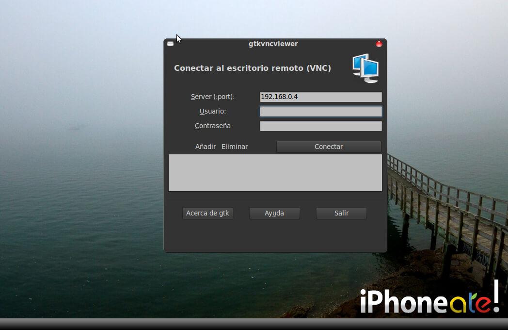 Accede via SSH y visualiza el iPhonei-Pod con VNC en Linux- 08
