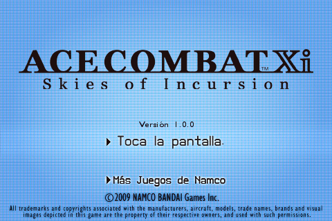 Ace Combat Xi Skies of Incursion  1.0-01
