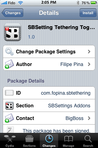 tethering toggle