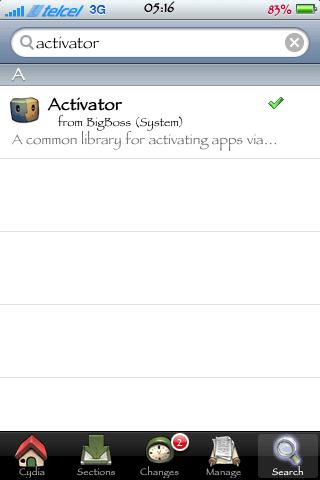 activator  no cydia