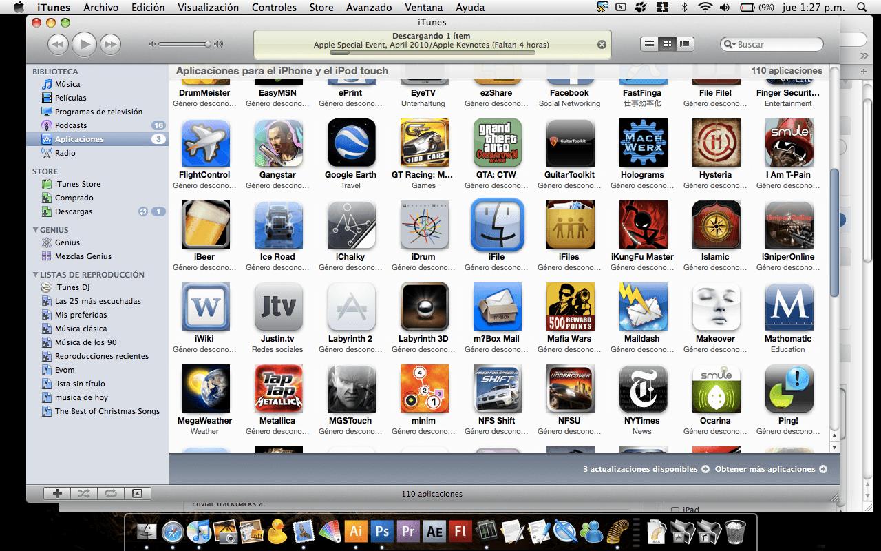 iFile convertido en .IPA para Sincronizar con iTunes • iPhoneate