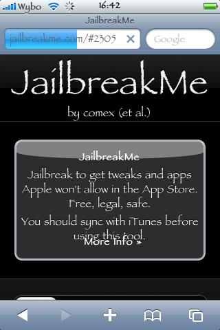 jailbrak usando el JailbreakMe  para todos, iOS 4.0 & 4.