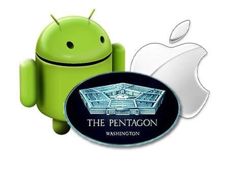 El pentagono aprueba los dispositivos iOS y Samsung para uso seguro.