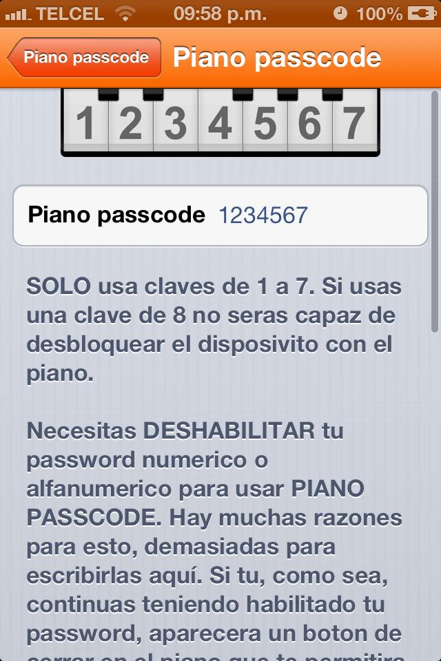 Piano Passcode 1.0-1-002