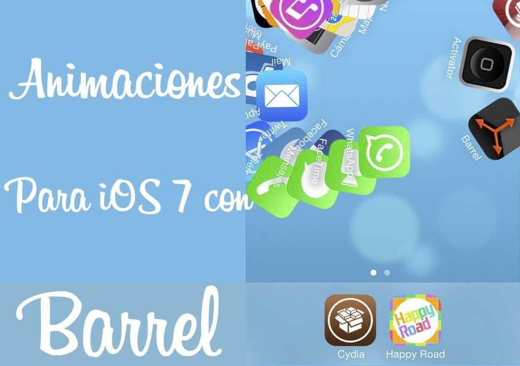 Barrel para iOS 7- Animaciones al cambiar de pagina en el springboard