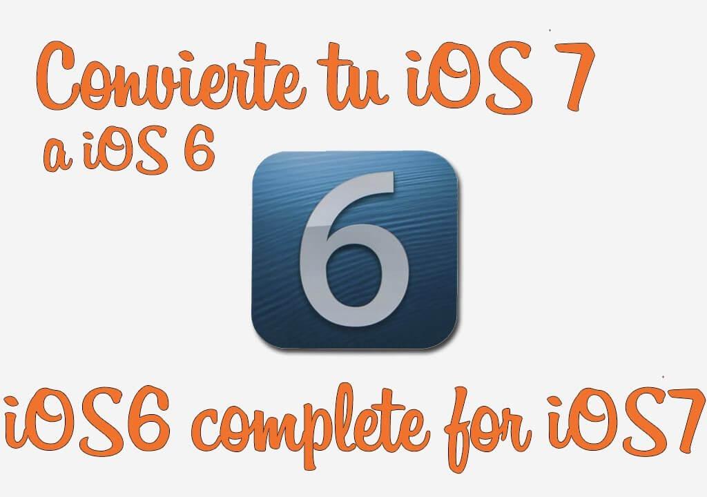 Cambia los iconos de las apps nativas de iOS 7 a iOS 6