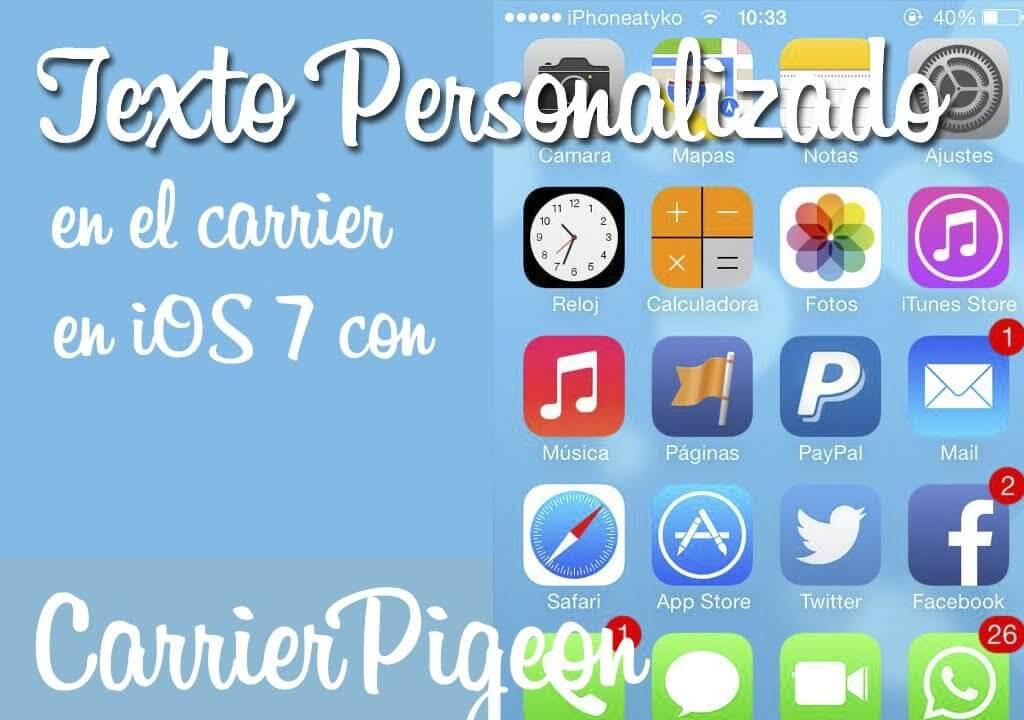 CarrierPigeon – Texto personalizado en el carrier