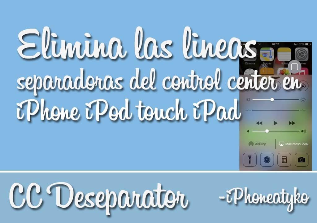CC Deseparator – Elimina las lineas del control center