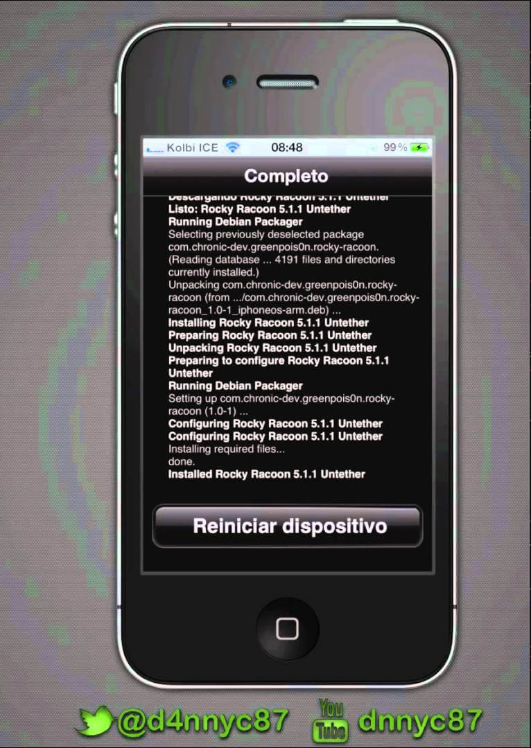 Convertir Jailbreak Tethered iOS 5.1.1 a Untethered Sin Tener Que Restaurar.