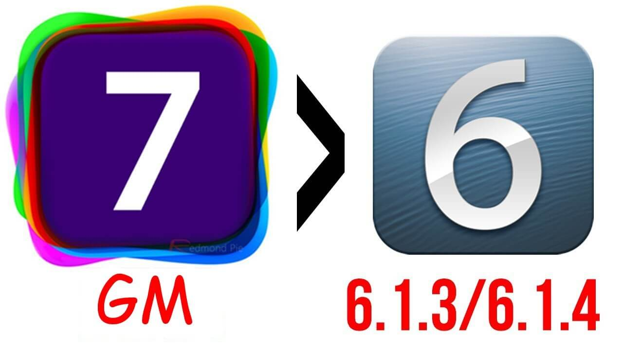 Downgrade IOS 7GM a IOS 6.1.3/4