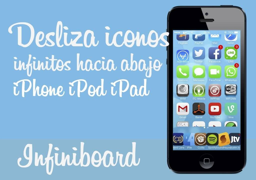Infiniboard – iconos infinitos hacia abajo en el springboard