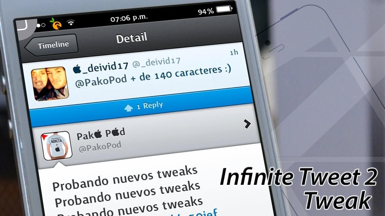 Infinite Tweet 2 – Mas de 140 Letras en Twitter