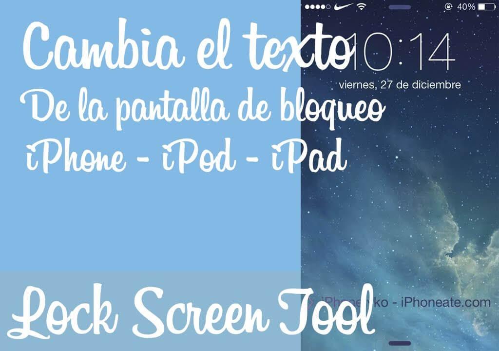 Lock Screen Tool – Texto de desbloqueo personalizado