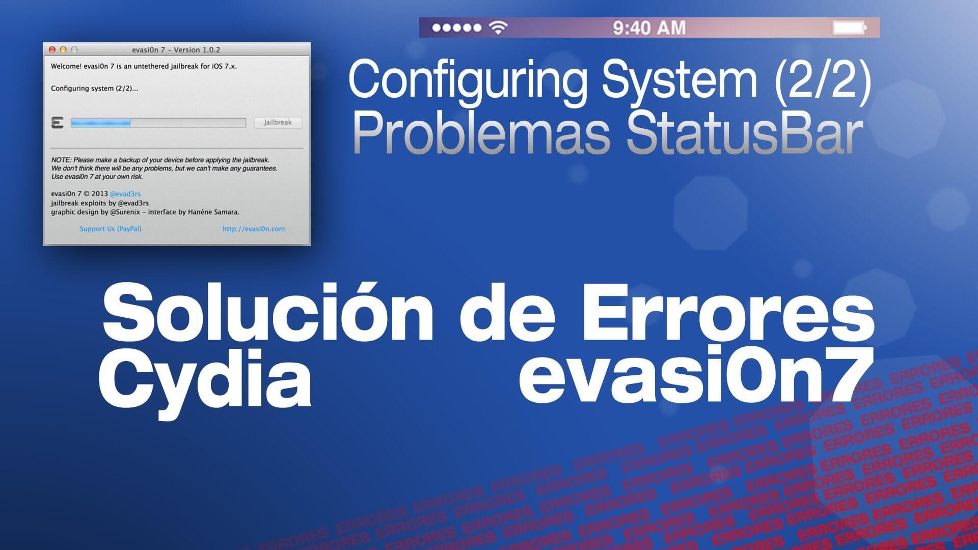 Repara los errores de Cydia y de evasi0n7