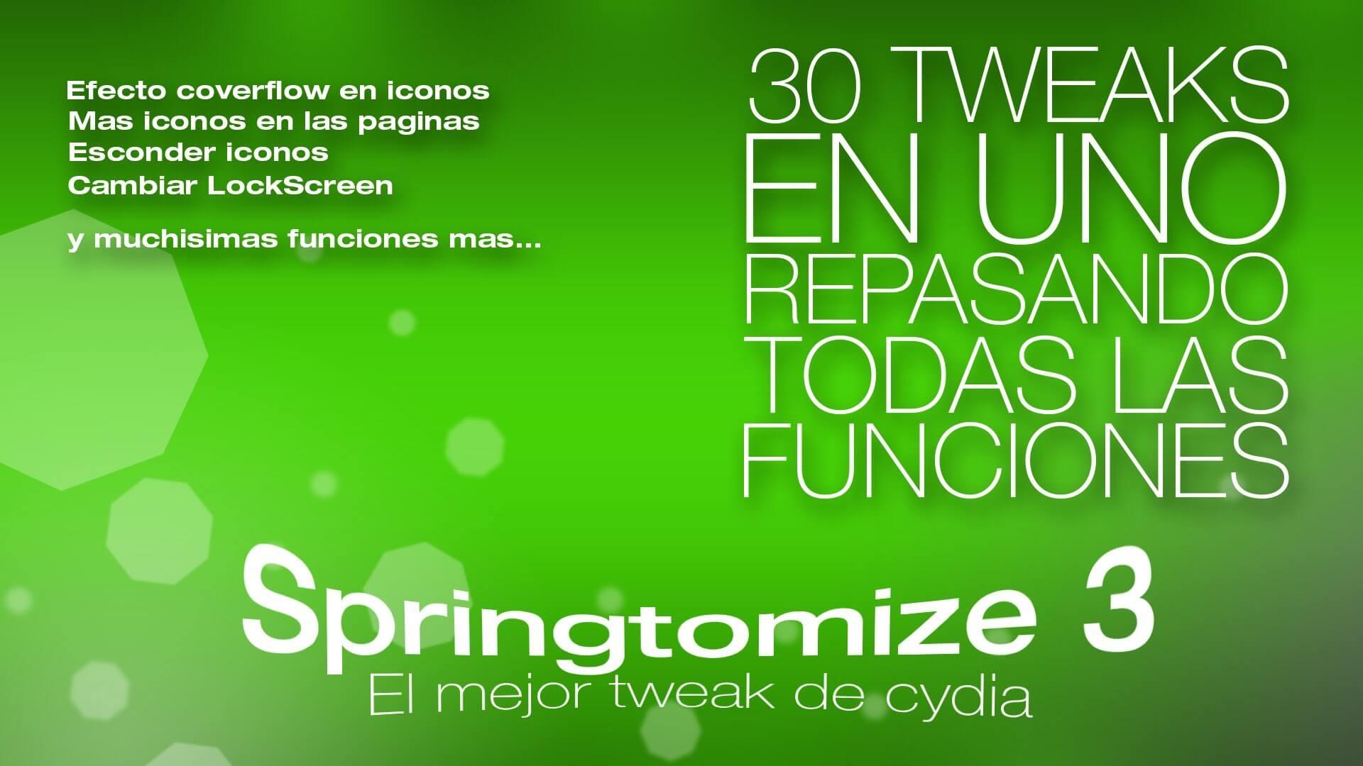 Revisando todas las opciones de Springtomize 3