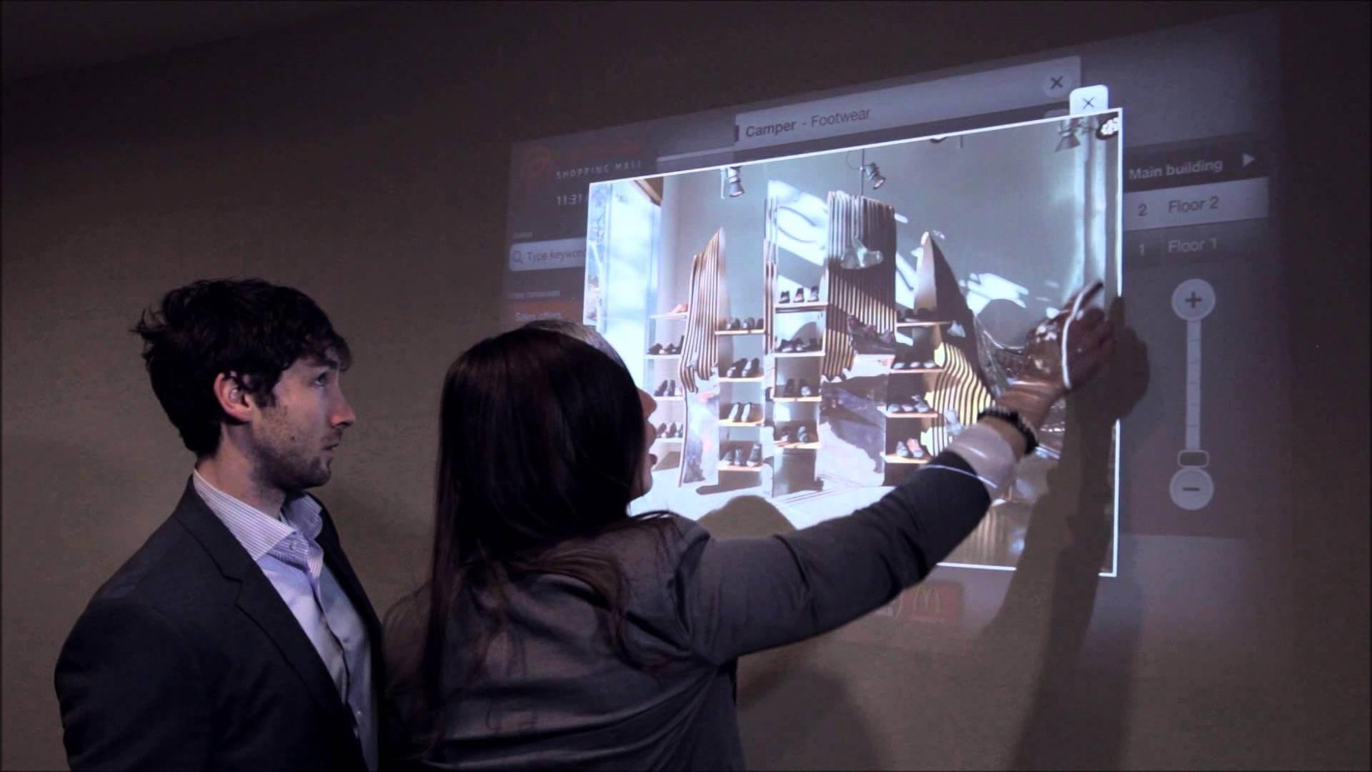Übi el nuevo software, que convierte cualquier superficie en pantalla táctil