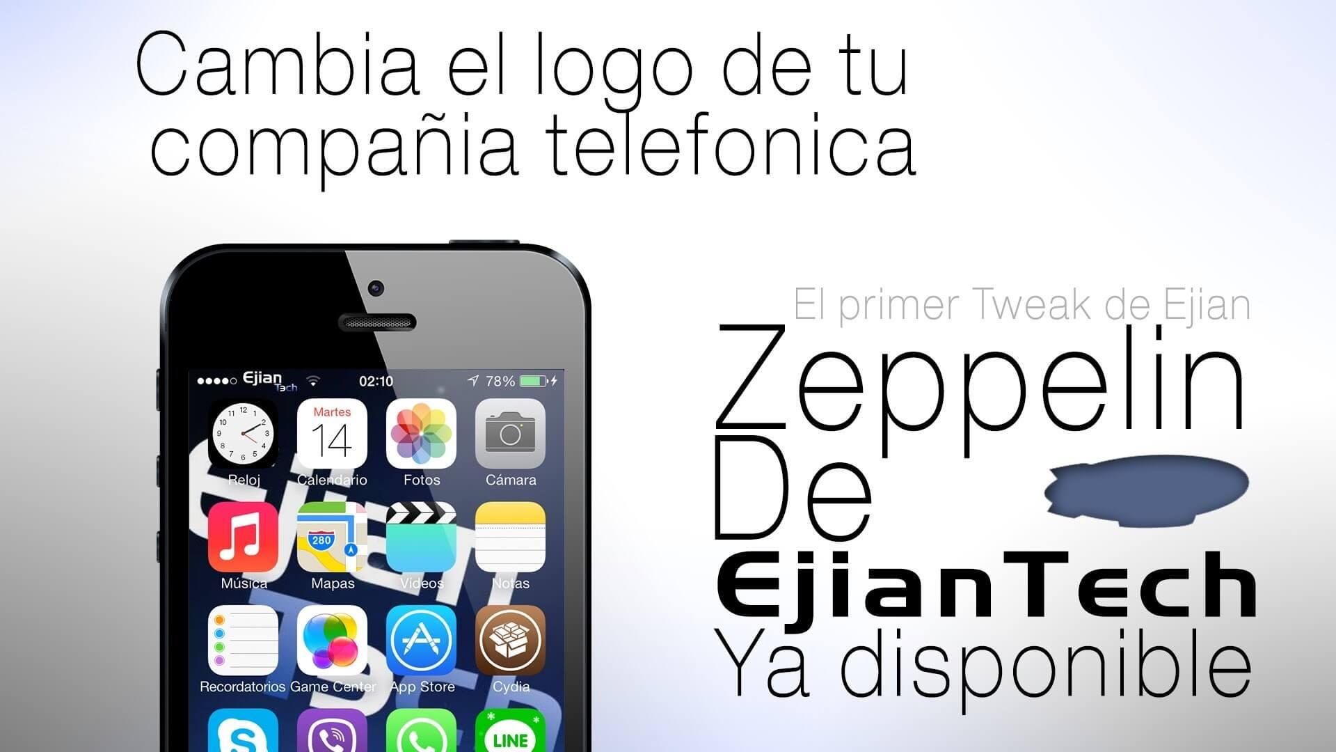 Zeppelin 2.0.2 remplaza el logo de tu operadora.