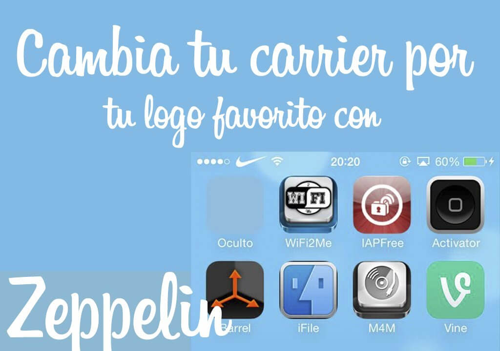 Zeppelin iOS 7 – Cambia el carrier de tu dispositivo