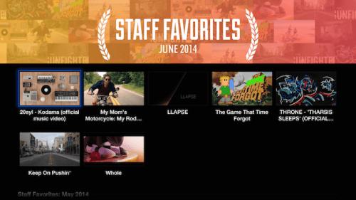 Vimeo, favoritos Staff
