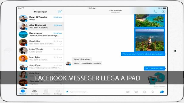 Facebook Messenger llega a iPad