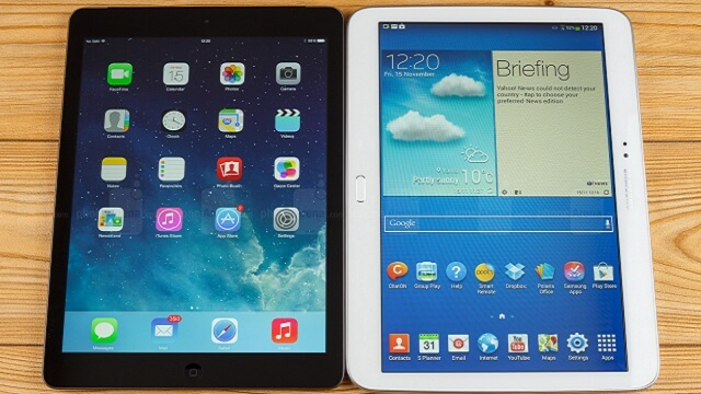 iPad air vs Samsung Galaxy Tab