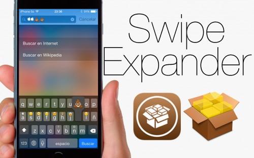 Añade funciones rápidas al teclado con SwipeExpander.