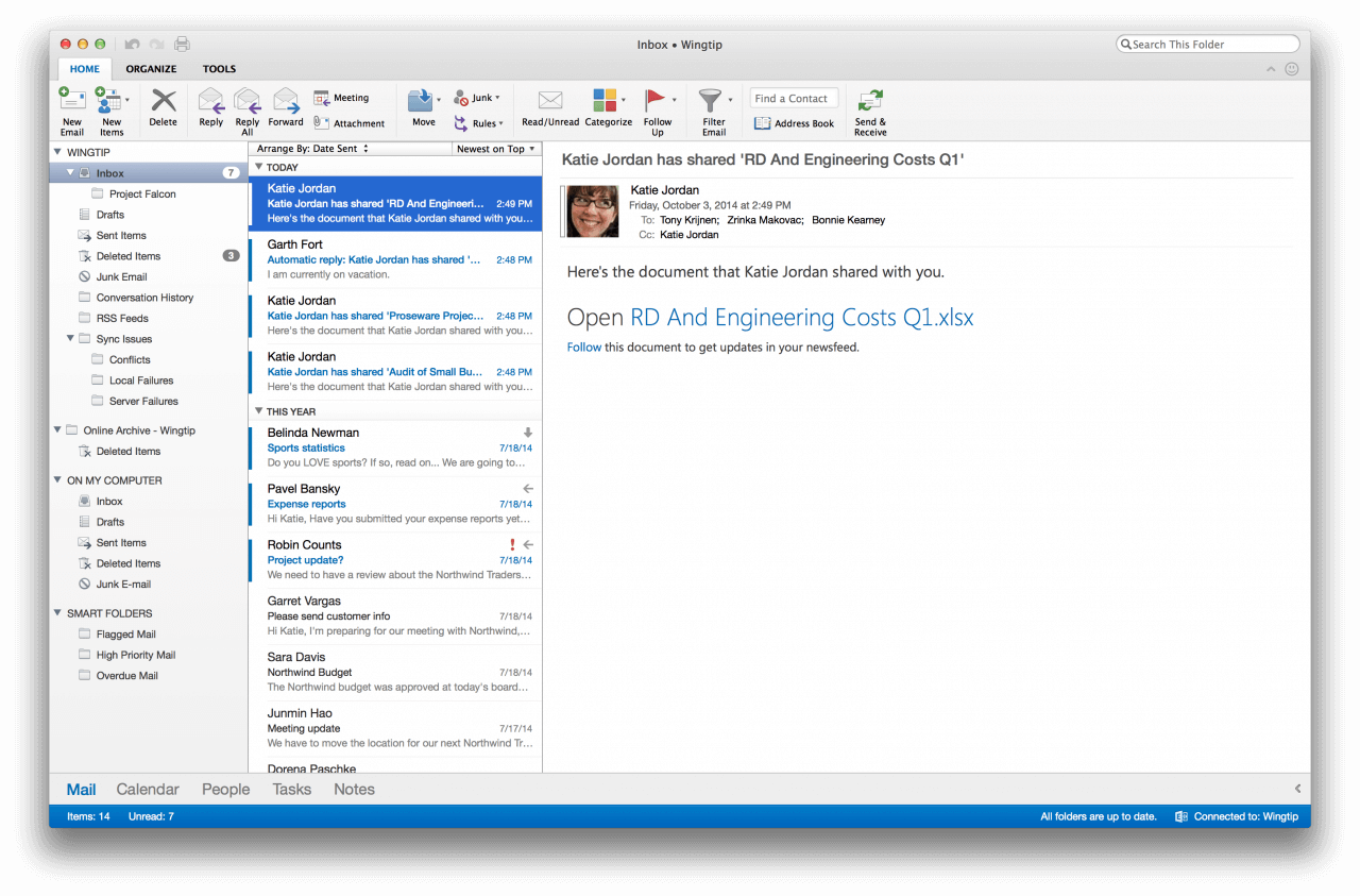 outlook para mac