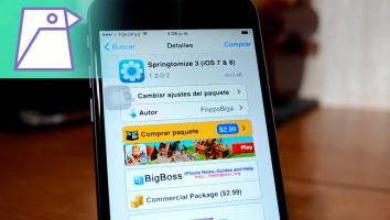 Springtomize 3 Compatible con iOS 8