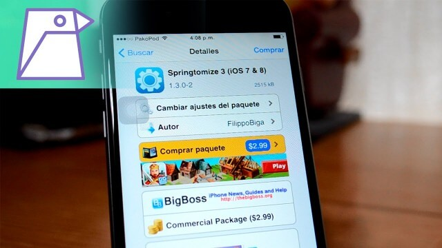 Springtomize 3 Compatible con iOS 8