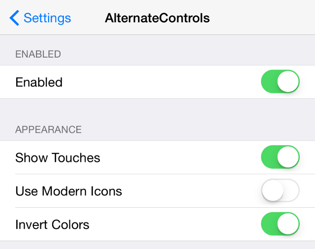 AlternateControls