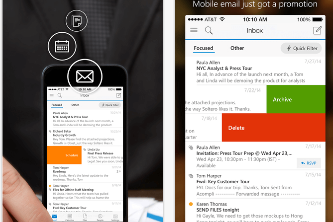Outlook cliente para iOS