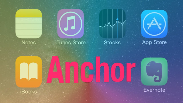 anchor tweak iOS 8