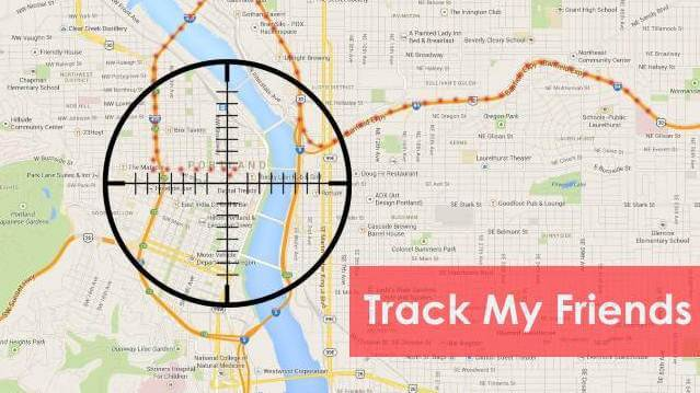 Track My Friends mapa