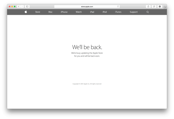 apple web offline