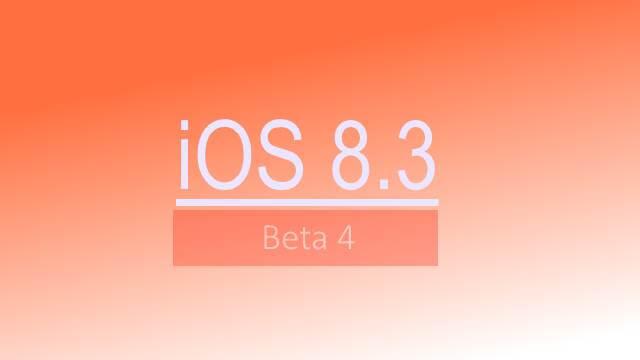 beta 4 iOS 8-3