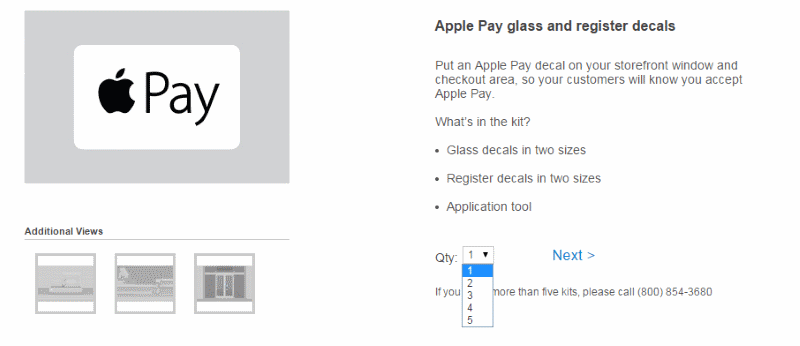 compra kits Apple Pay