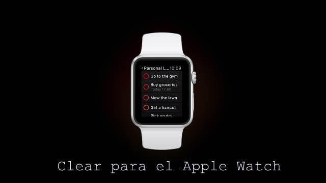 clear apple watch