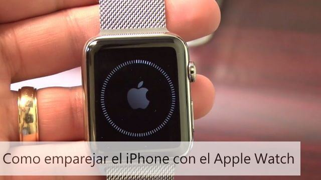 como emparejar apple watch