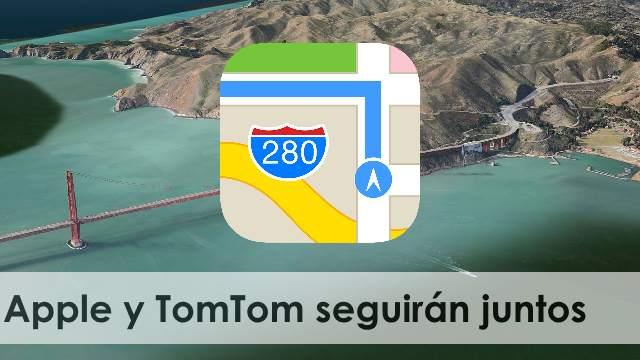 Apple y TomTom seguirán trabajando en el sistema de mapas